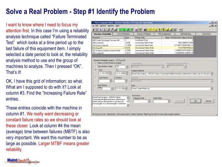 solve a real problem step 1 identify the problem n.