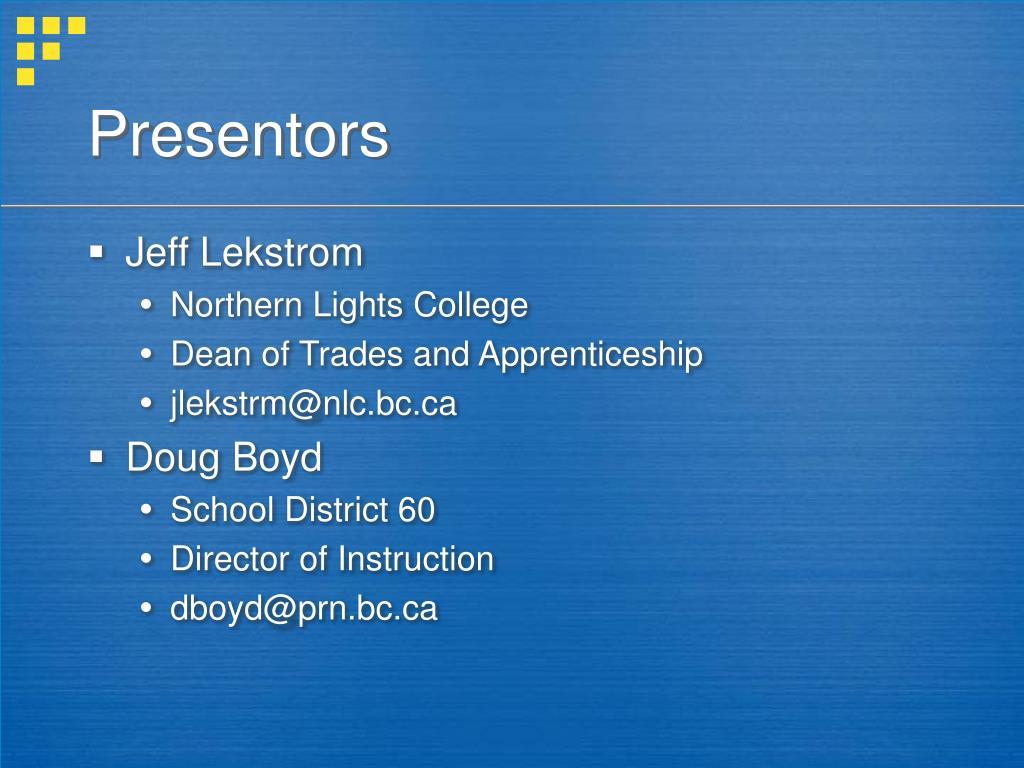 Presentors