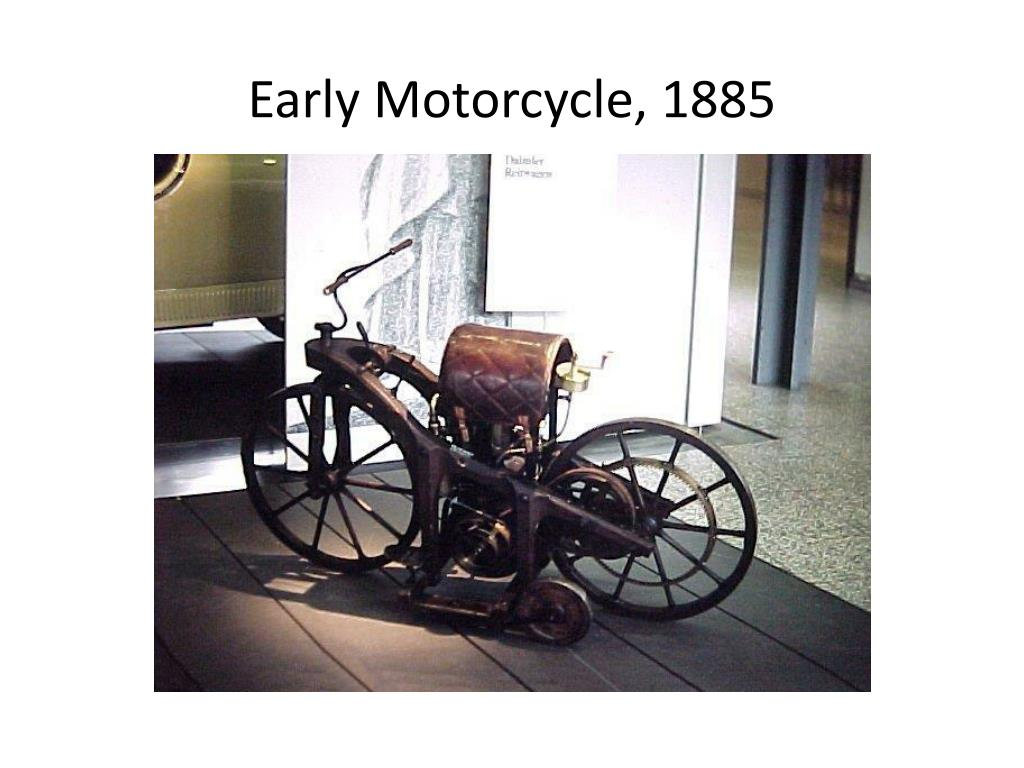 Early Motorcycle, 1885