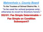 mahrenholz v county board