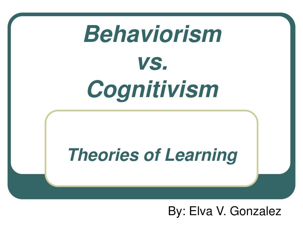 behaviorism cognitivism