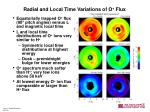 radial and local time variations of o flux