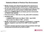 statistical model of particle flux environment