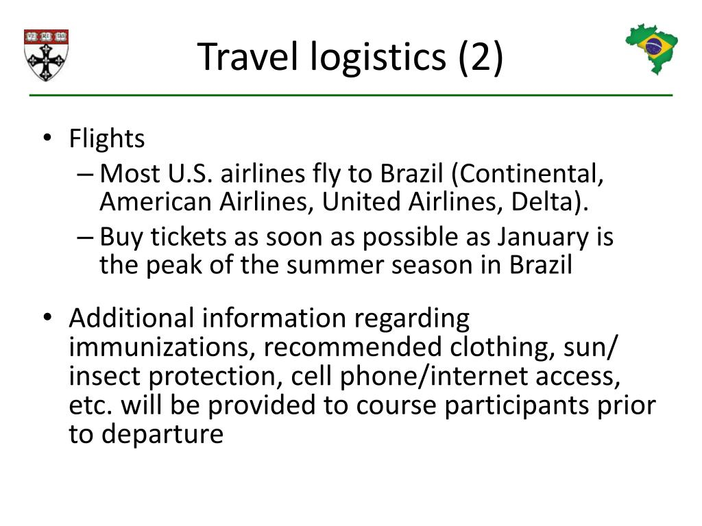 Travel logistics (2)