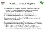 week 2 group projects