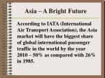 asia a bright future
