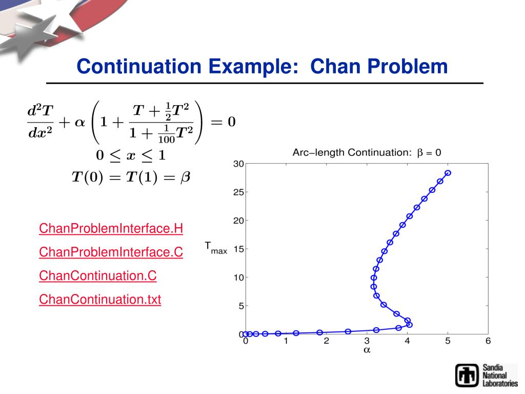 Continuation Example:  Chan Problem