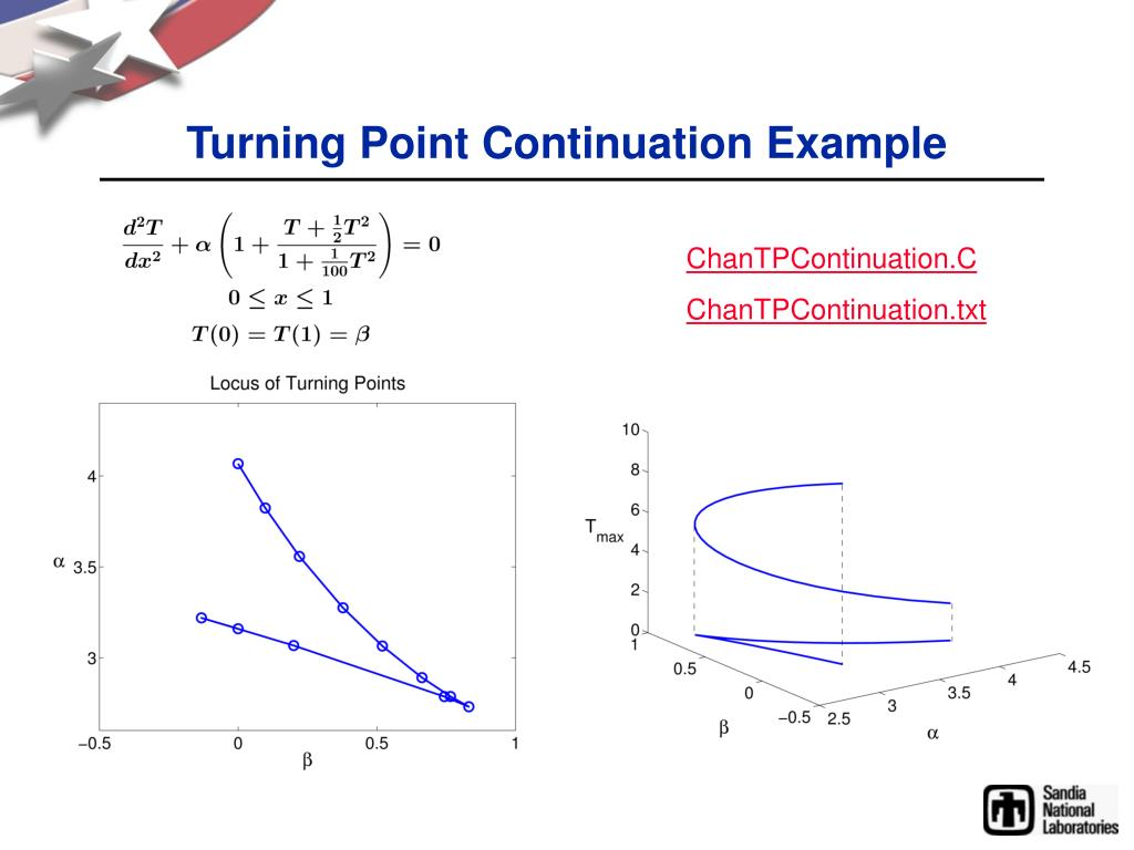 Turning Point Continuation Example