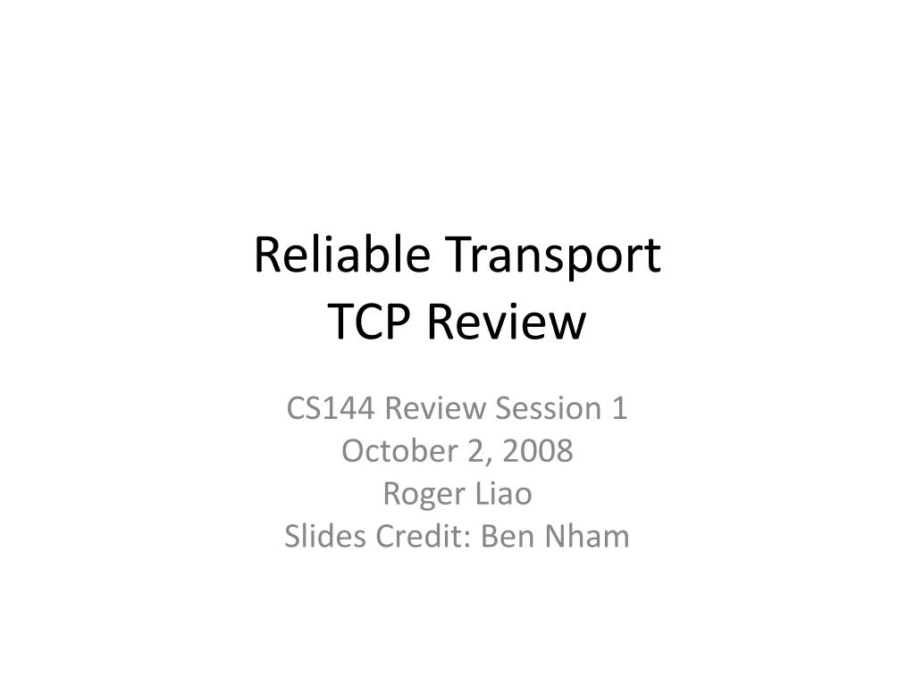 reliable transport tcp review l.
