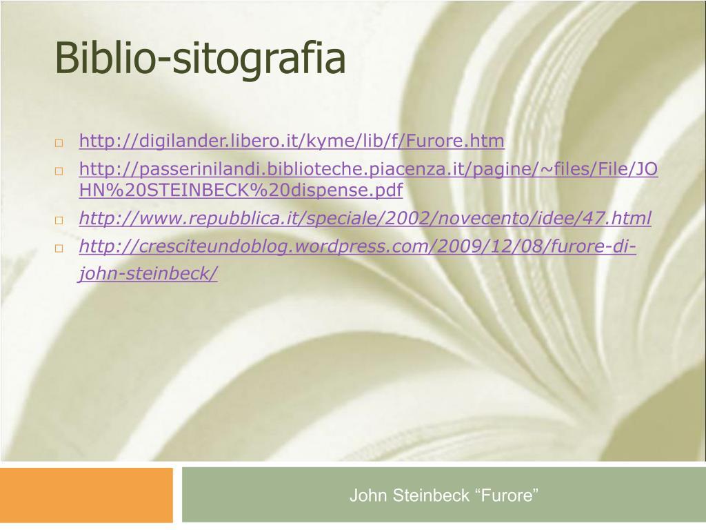 Biblio-sitografia