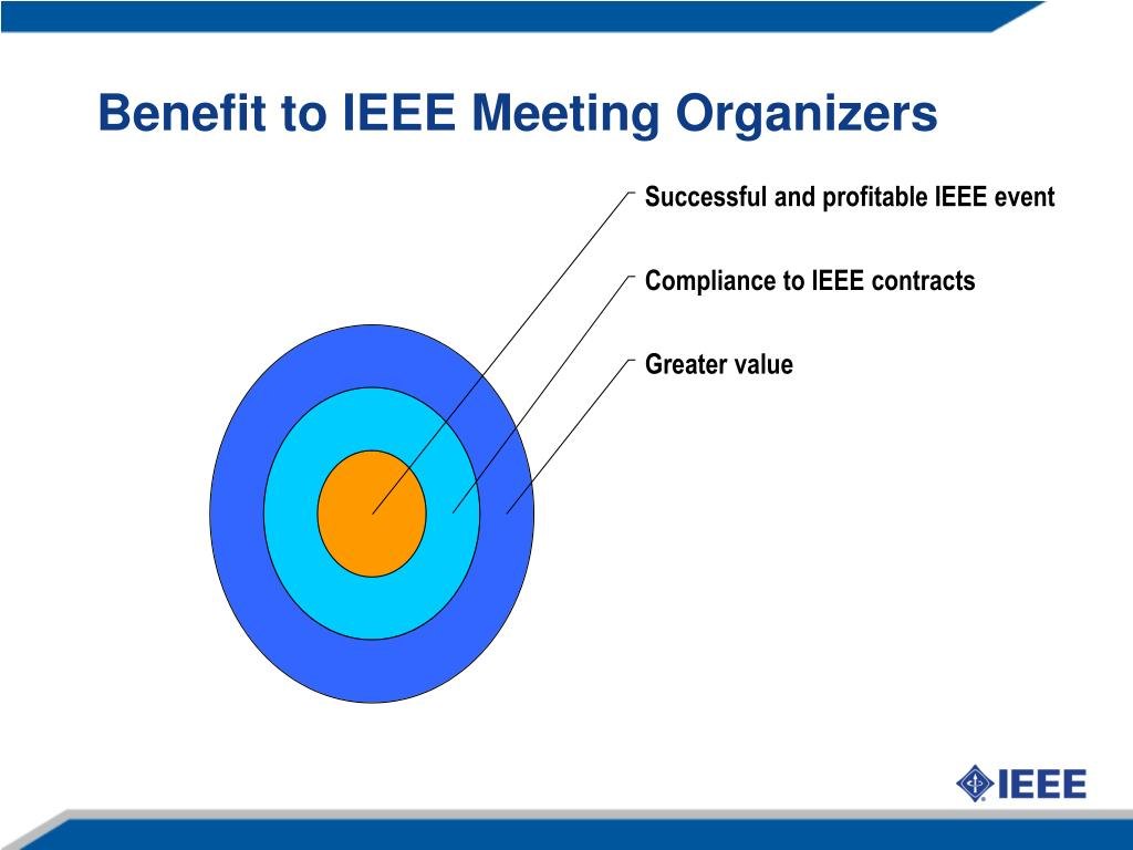 Benefit to IEEE Meeting Organizers