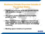 business climate overview outside of the united states