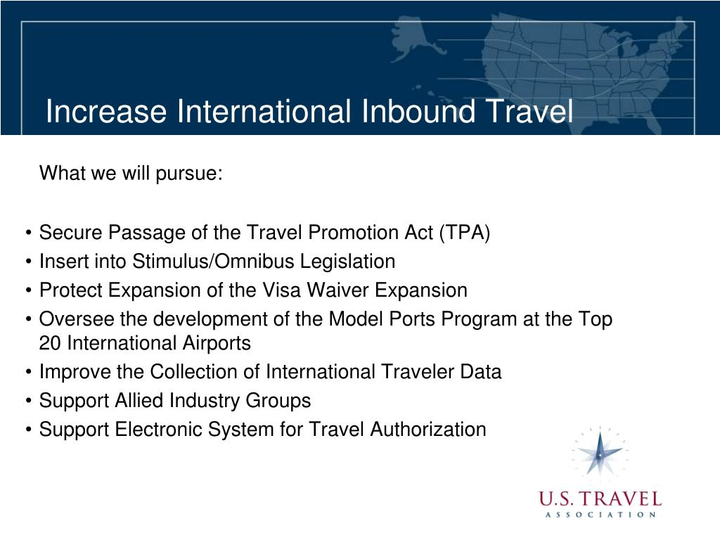 Increase International Inbound Travel