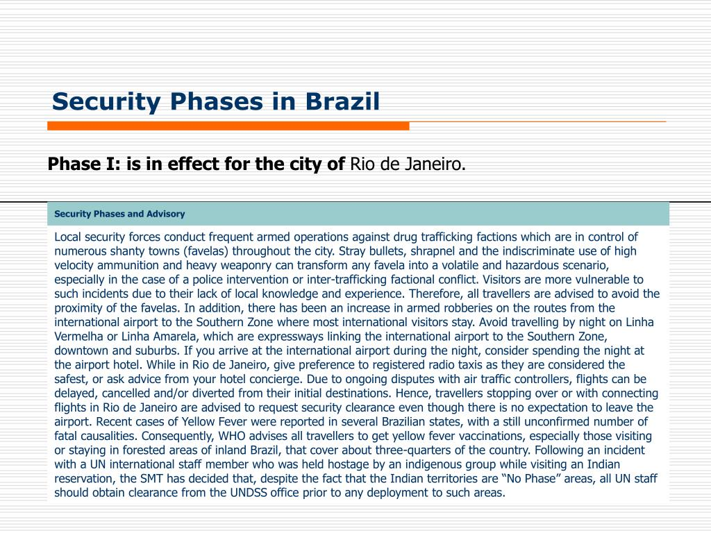 Security Phases in Brazil