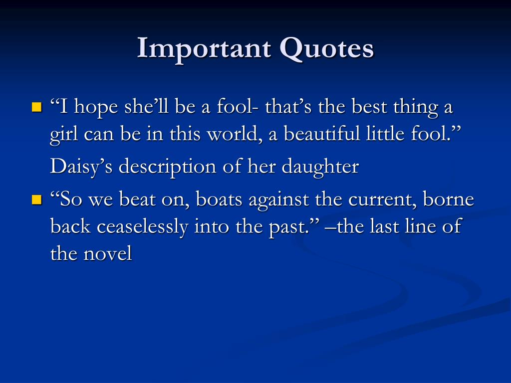 Important Quotes