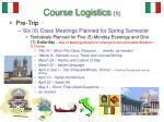 course logistics 1
