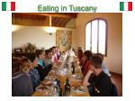 eating in tuscany