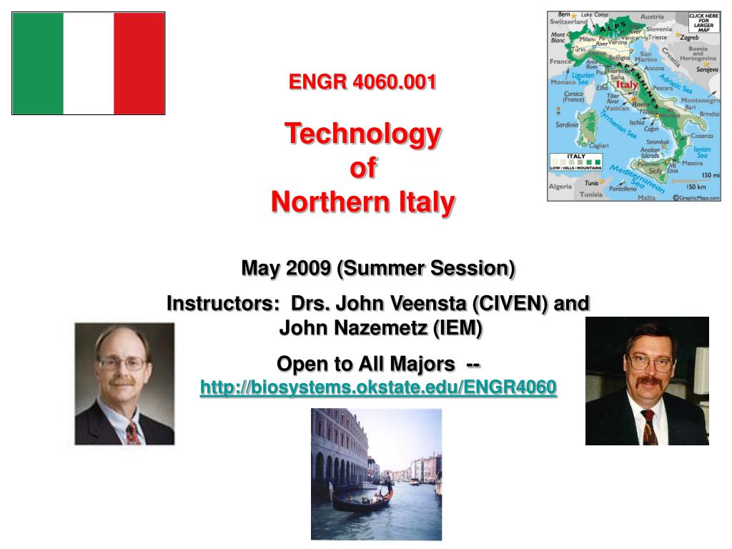 engr 4060 001 technology of northern italy l.