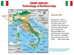 engr 4060 001 technology of northern italy4
