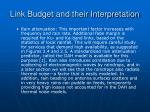 link budget and their interpretation23