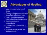 advantages of hosting