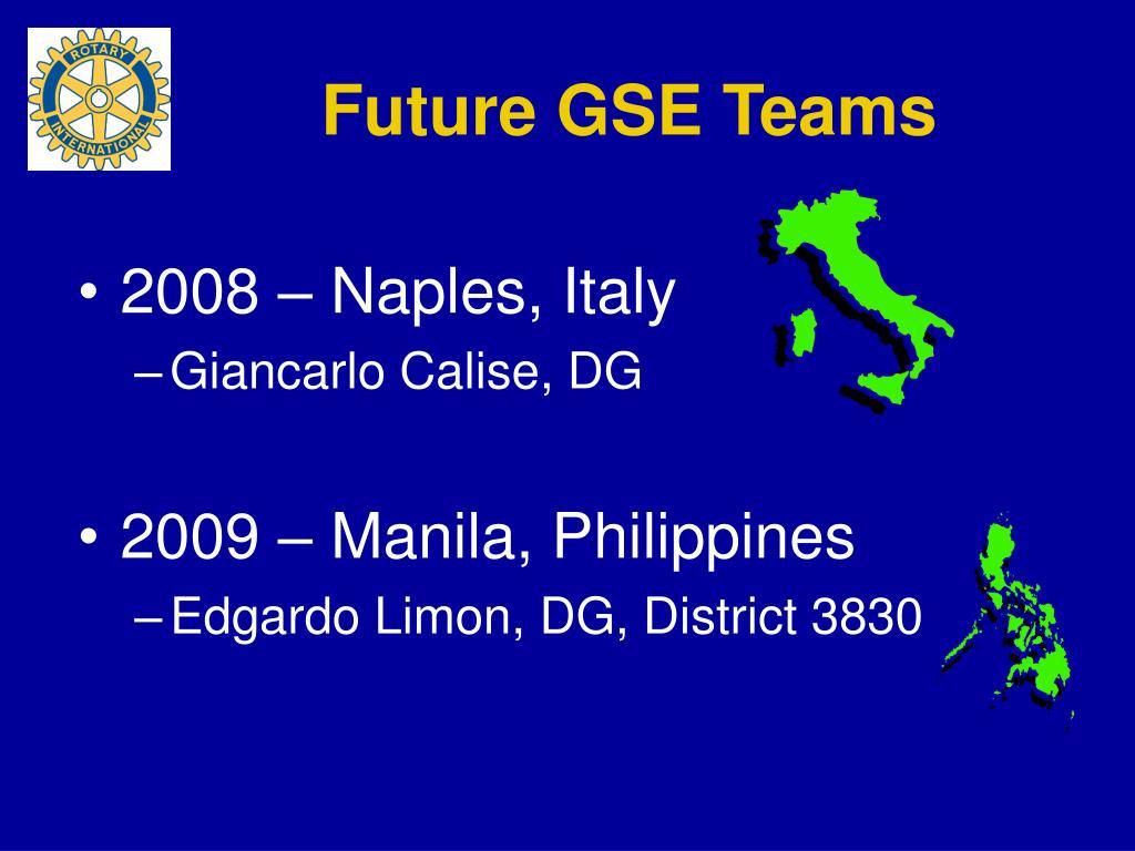 Future GSE Teams