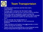 team transportaion