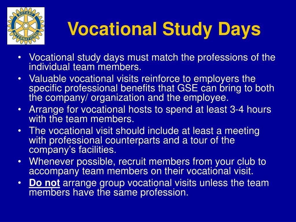 Vocational Study Days