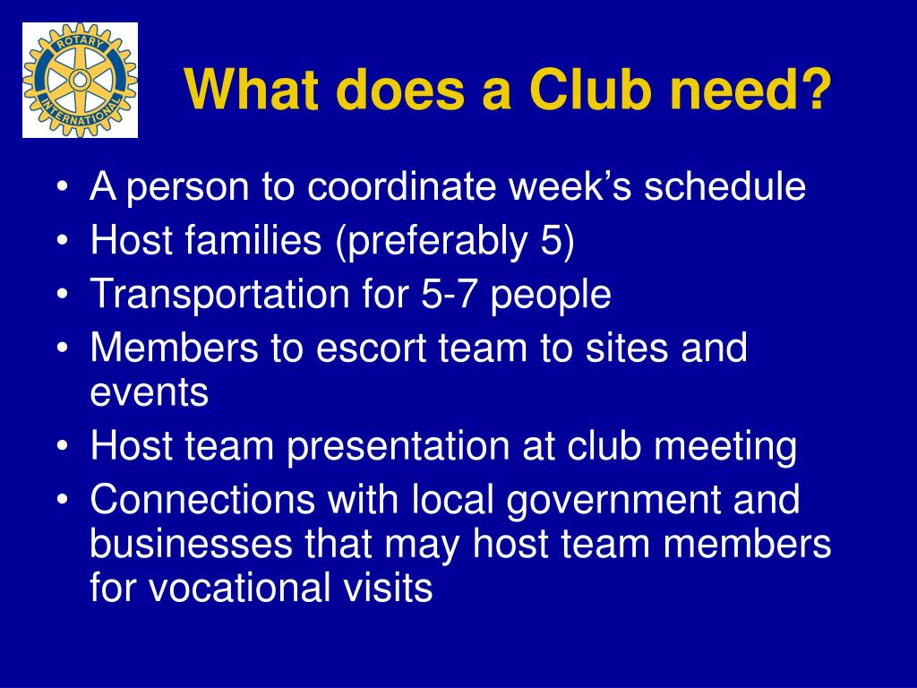 What does a Club need?