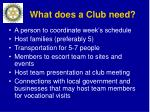 what does a club need