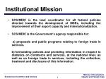 institutional mission
