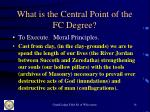 what is the central point of the fc degree14