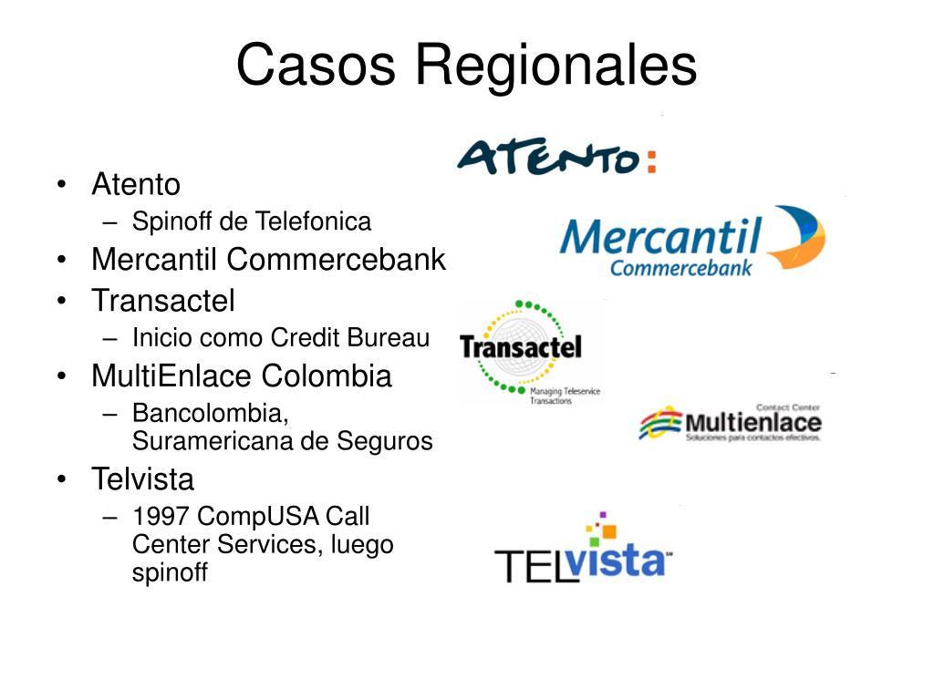 Casos Regionales