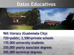 datos educativos