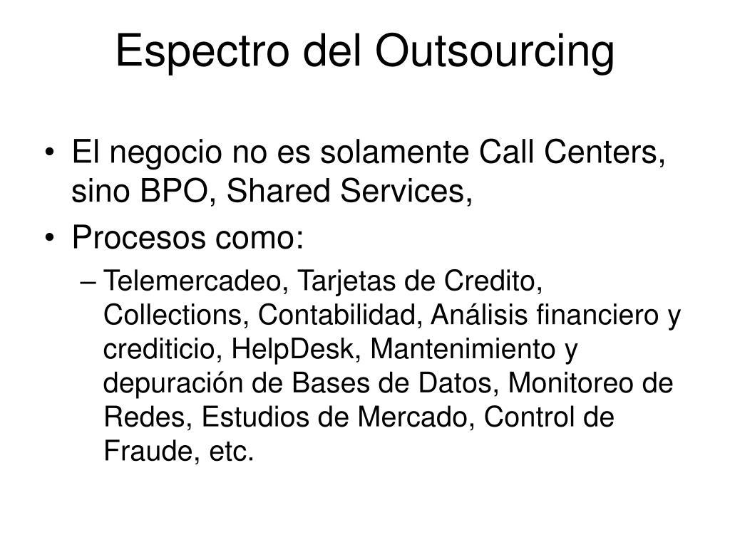 Espectro del Outsourcing
