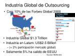 industria global de outsourcing