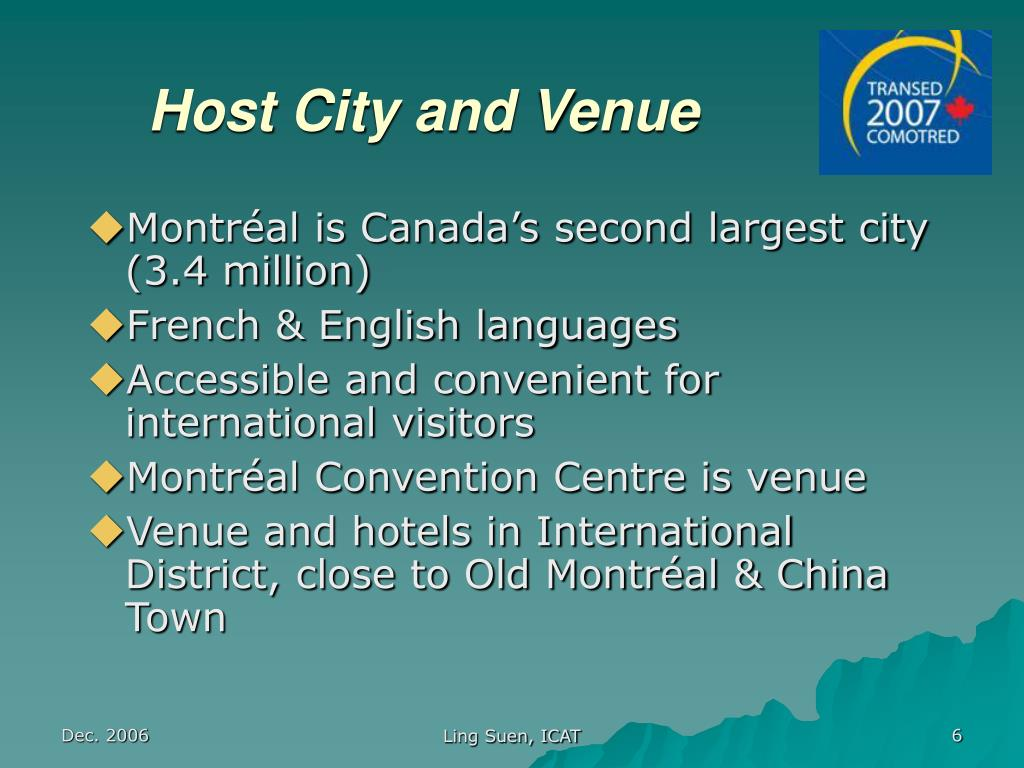 Host City and Venue