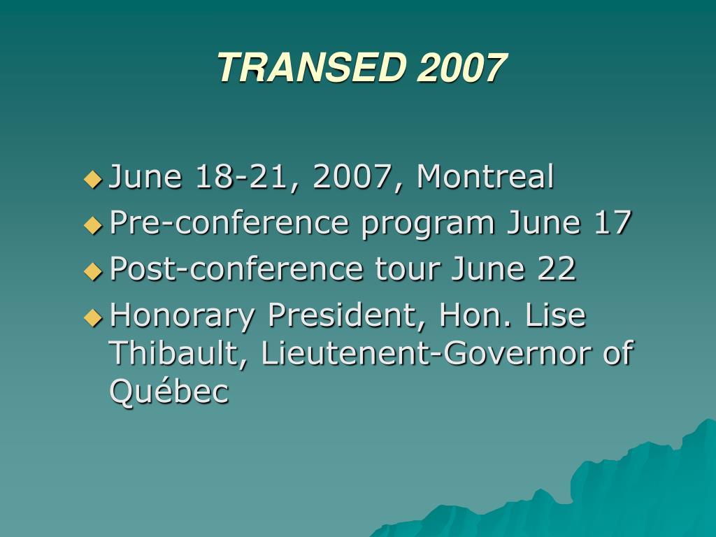 TRANSED 2007