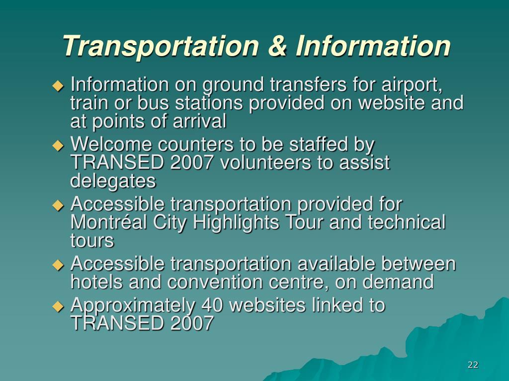 Transportation & Information