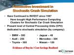 automotive investment in stochastic crash simulation
