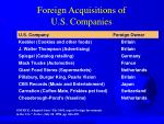 foreign acquisitions of u s companies