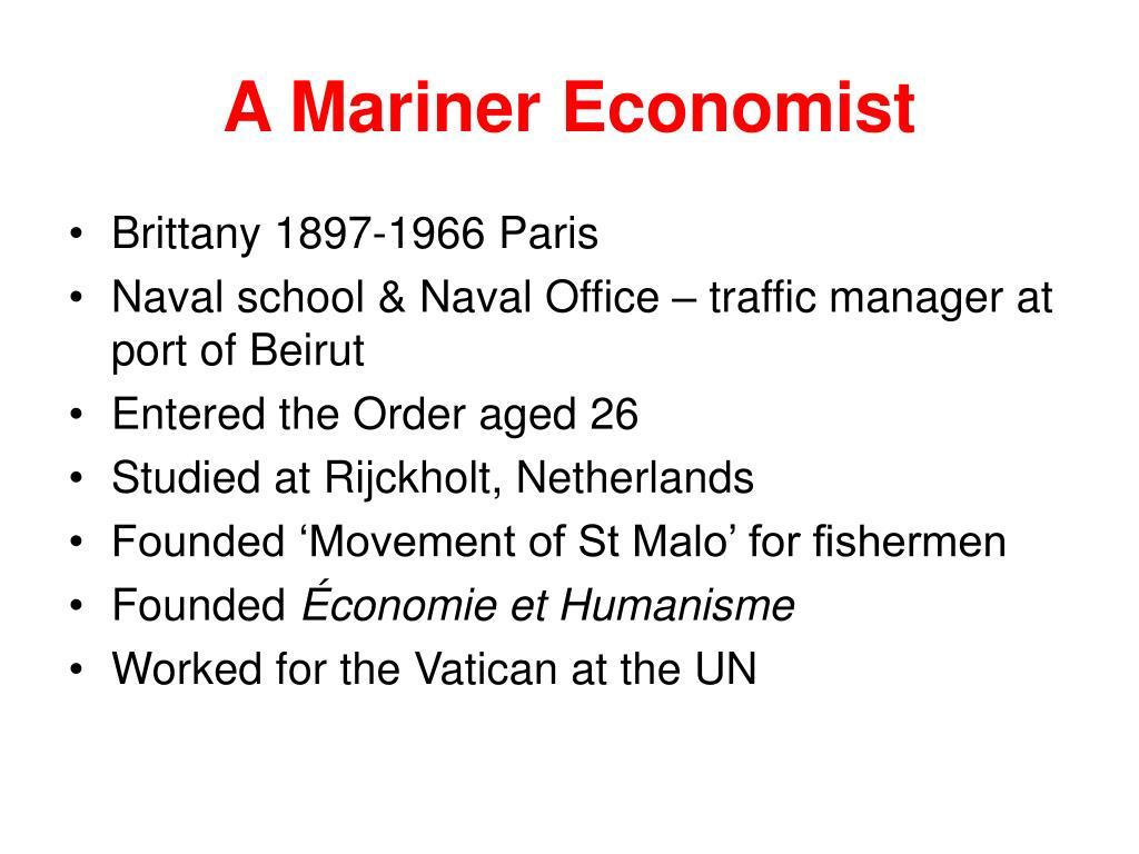 A Mariner Economist