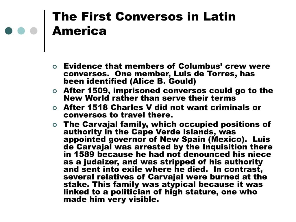 the first conversos in latin america l.