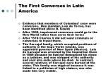 the first conversos in latin america