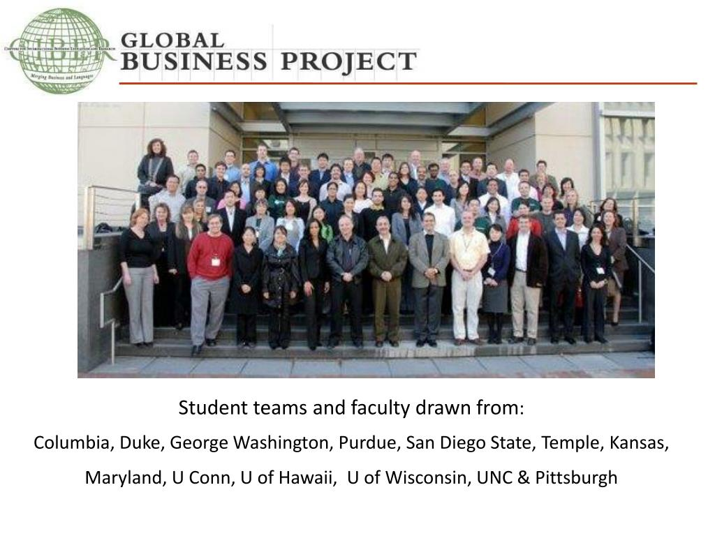 Student teams and faculty drawn from