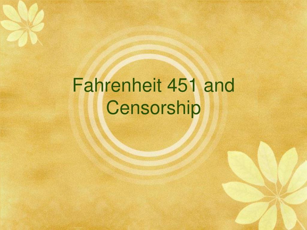 Censorship Fahrenheit 451
