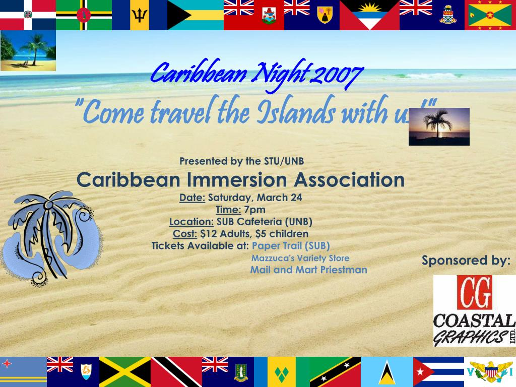 caribbean night 2007 come travel the islands with us l.