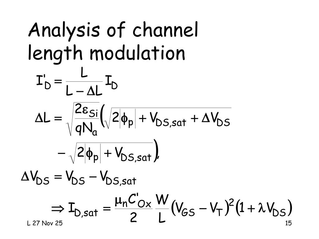 Analysis of channel