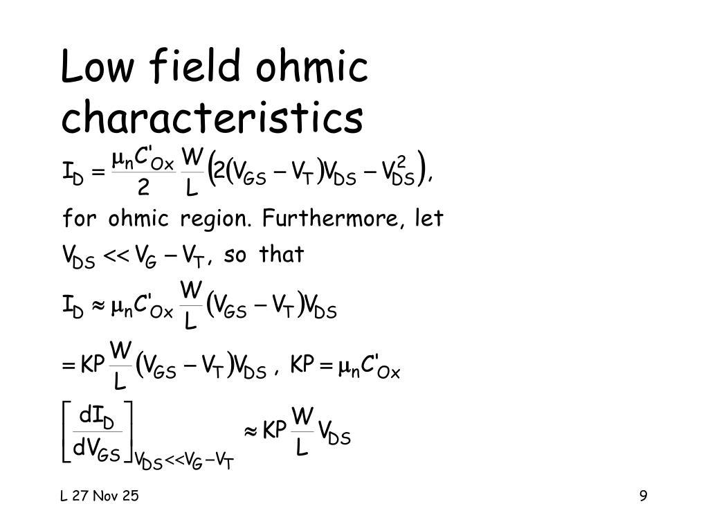 Low field ohmic