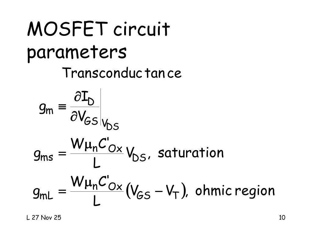 MOSFET circuit